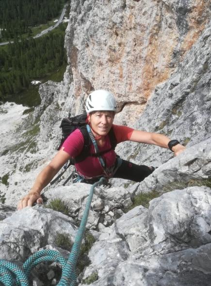 Dolomiten - Kleiner Falzaregoturm via Ghedina. Bilder: Tina Mazina Semadeni